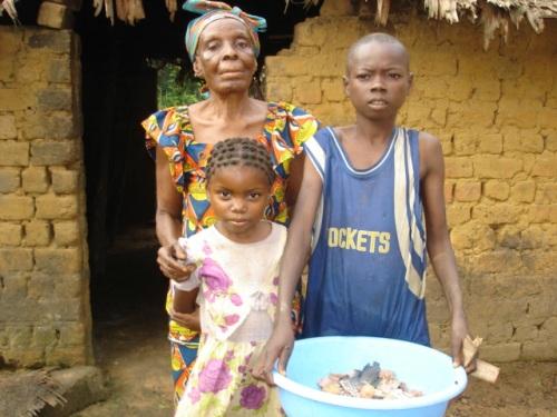 Children Help Grandma; Grandma Helps the Children
