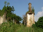 The main boiler at the Wendji Secli Palm Oil Plantation abandoned in the 1970's