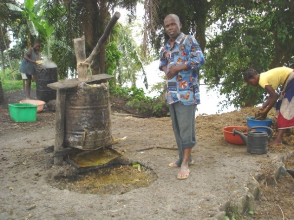 Backyard Processing of Palm Oil by an Ikengo Household