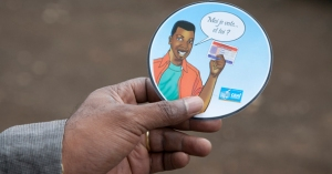 """""""I've voted; have you?"""" coasters for voters in the late November elections"""