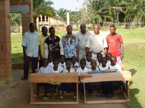 A $500 grant from Disciples/UCC Global Ministries bought desks for the secondary and primary school at Monieka