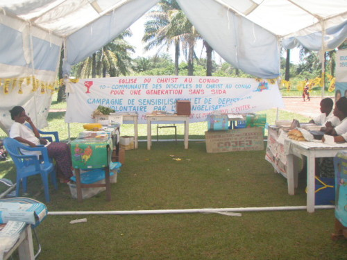 Disciples Recently Co-Sponsored a Mbandaka AIDS Community Education Fair