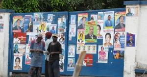 Ngiri Ngiri Kinshasa street bulletin board