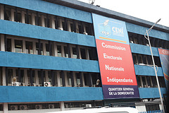 CENI headquarters of Electoral Commission led by Methodist Minster Daniel Ngoy Mulunda, said to be Kabila's Pastor