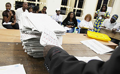 Counting of Huge Ballots Cast at Some 64,000 Polling Places