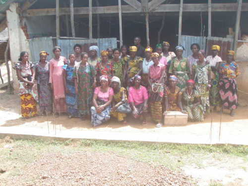30 Women in Rural Boyeka Brought $117.50 to their First Microcredit Group Meeting with Hopes of Distributing $2100 in Six Months