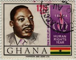 Postage stamp issued by Ghana two years after Kwame Nkrumah was overthrown in a 1966 military coup