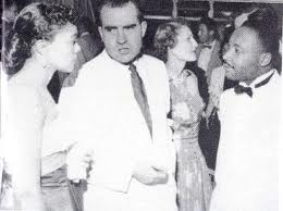 Dr. and Mrs. King met Vice President Nixon for the first time at the Independence Ball