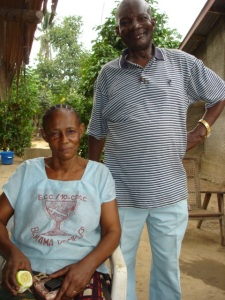 Joseph and Mrs. Ikete at daughter Christine's home