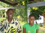 Mlle. Nondoko next to Rev Michel Likomba, pastor of Mbandaka III parish, is an orphan whose study for the ministry is supported by Mbandaka's  Nouvelle Cite parish