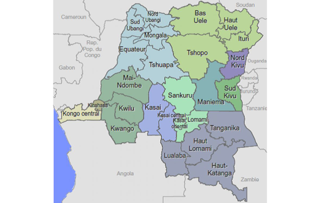 The Equateur and Tshuapa Provinces on the map are the heart of Congo's Equatorial Rainforest